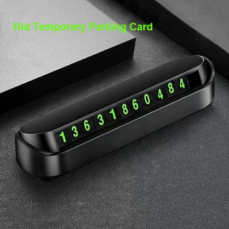 Hid стайлинга автомобилей карточка с телефоном для временной парковки номер карты пластина номер телефона светящийся Автомобильный парк ст...