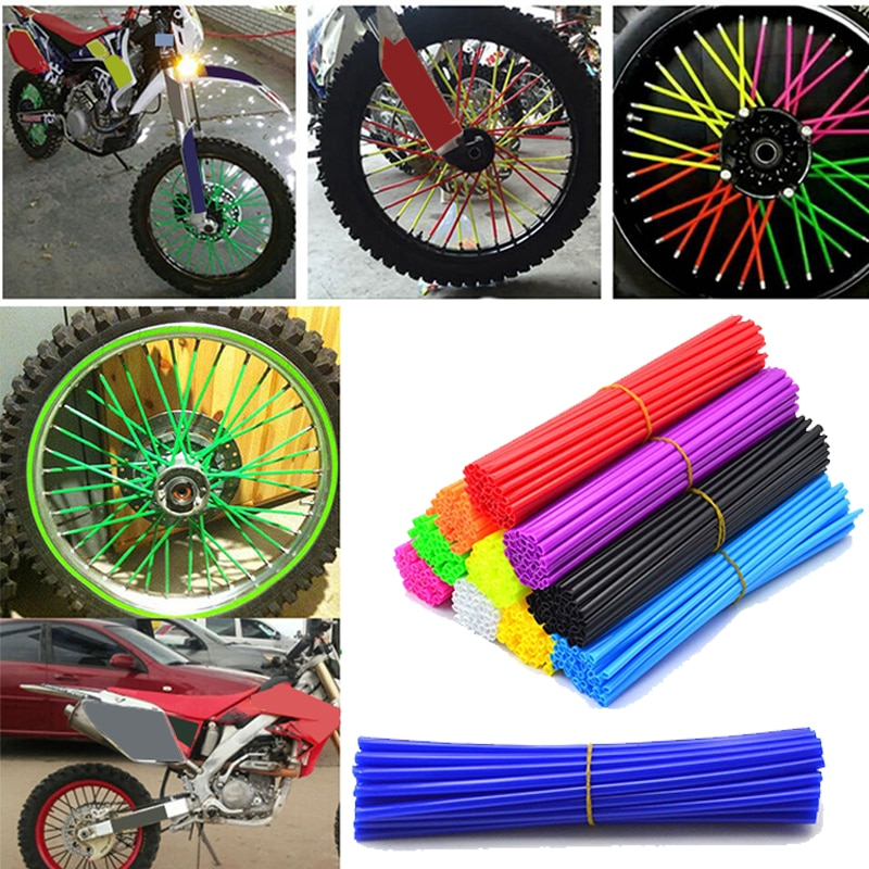 72 шт./компл. ободки на колесиках, ободки, Защитные чехлы для велосипедных мотоциклов, украшение для грязи, украшение для мотокросса, украшение для мотоцикла