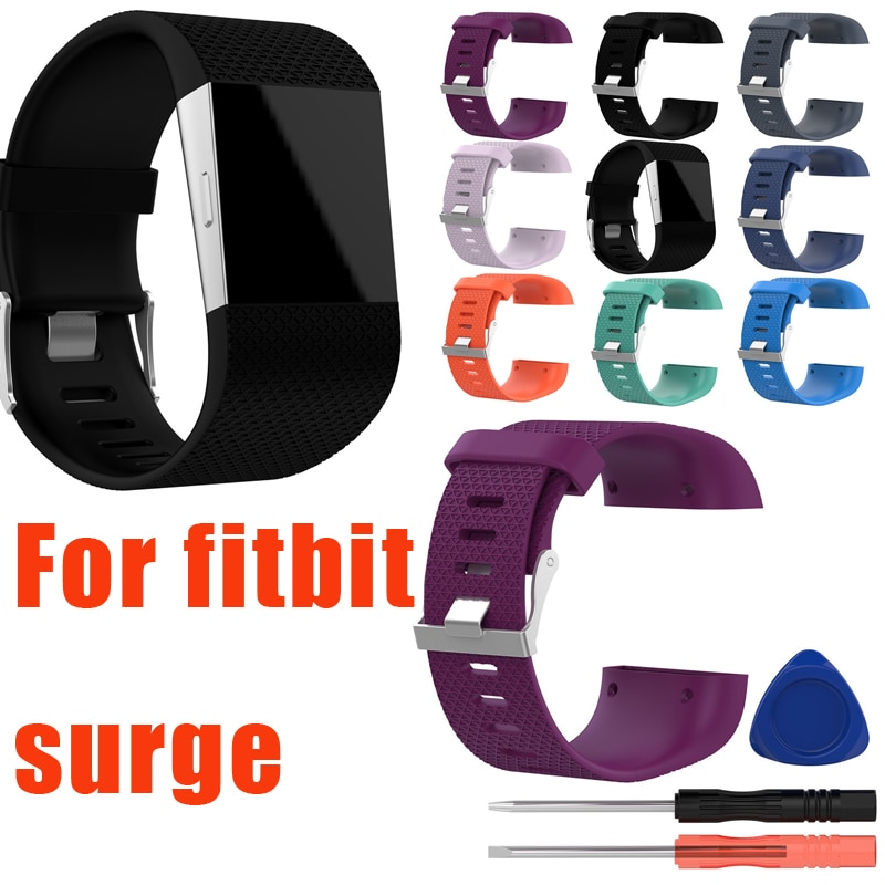 Silicone Accessory Replacement Band Straps for Fitbit Surge Large Small Women Men
