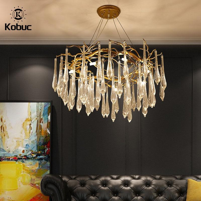 Современная светодиодная хрустальная люстра Kobuc, роскошные украшения для дома, лампа для гостиной, хрустальная люстра K9, освещение для вест...