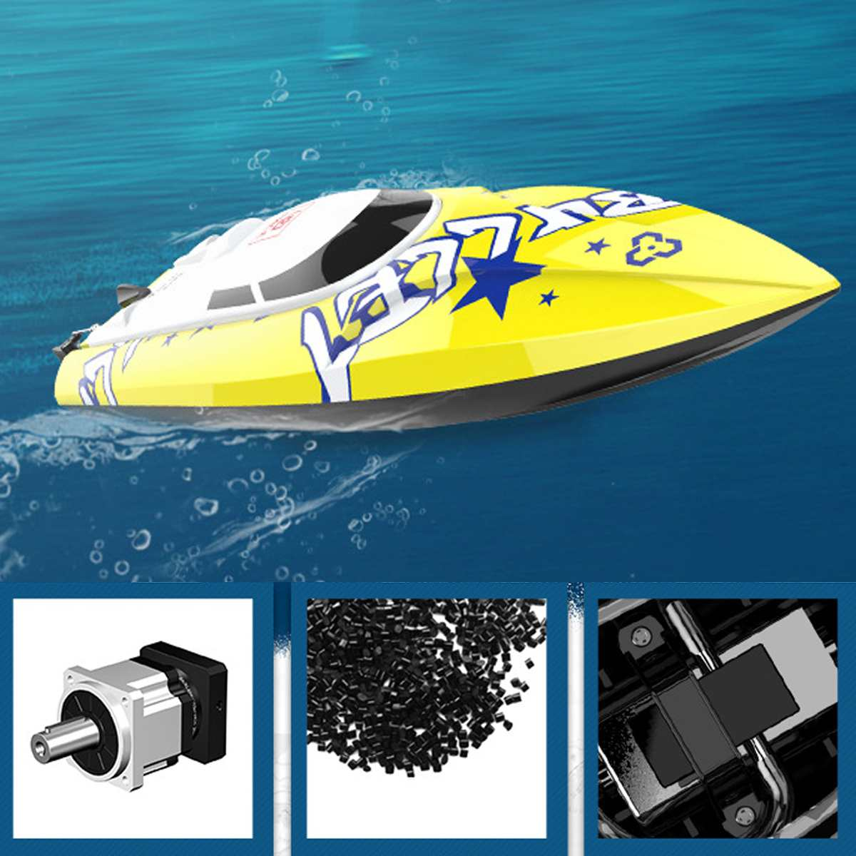 New Brushless RC Racing Boat 48KM/H 2.4G High Speed Electronic Remote Control Boat Toys For Kids Remote Control Toys enlarge