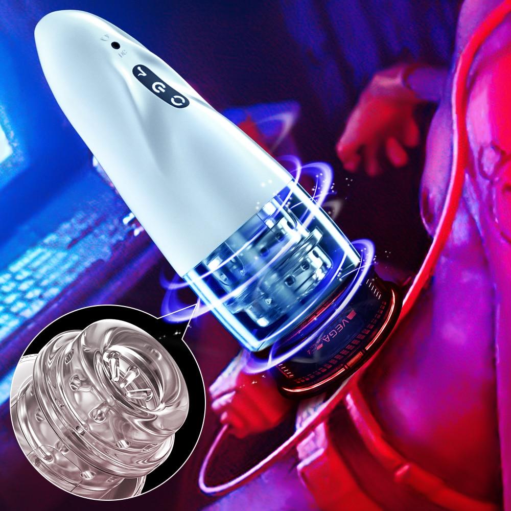 جهاز استمناء أوتوماتيكي للذكور ، جهاز استمناء بـ 10 ترددات قابلة للتعديل ، لعبة جنسية بجيب المهبل الحقيقي للرجال