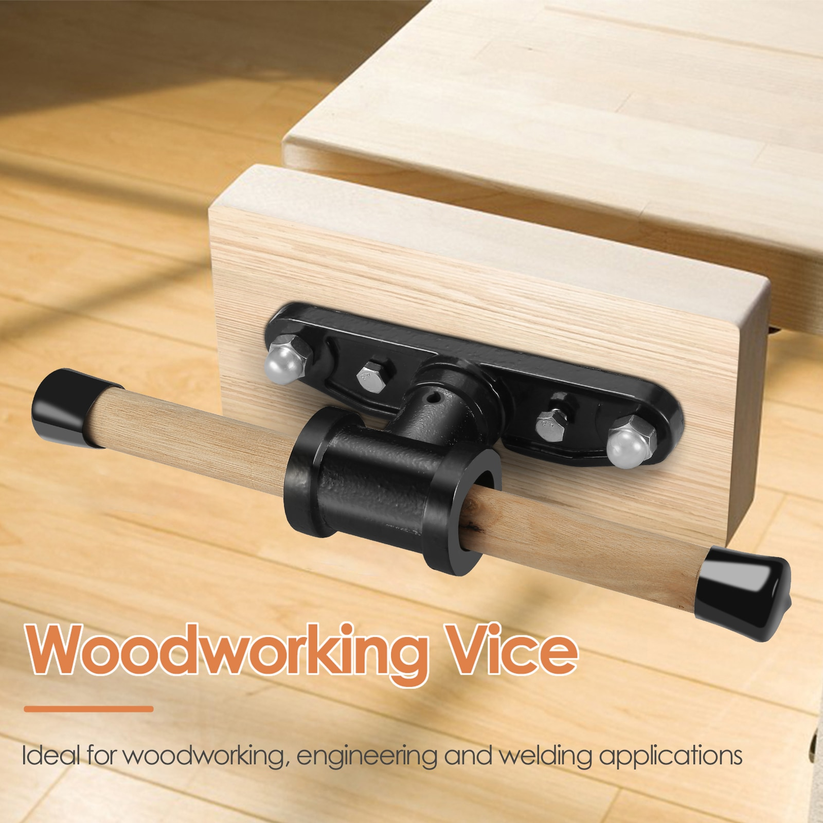 7 inch Woodworking Workbenches Connecting Rod Table Clamp Guide Rod Double Connecting Operating Table Bench Clamping Tool