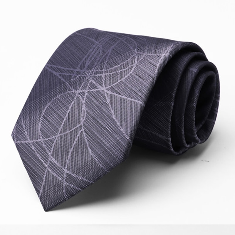 Top Quality Men's Ties 100% Silk 8CM Wide Tie For Men Business Suit Work Necktie Male Fashion Formal Neck Tie With Gift Box