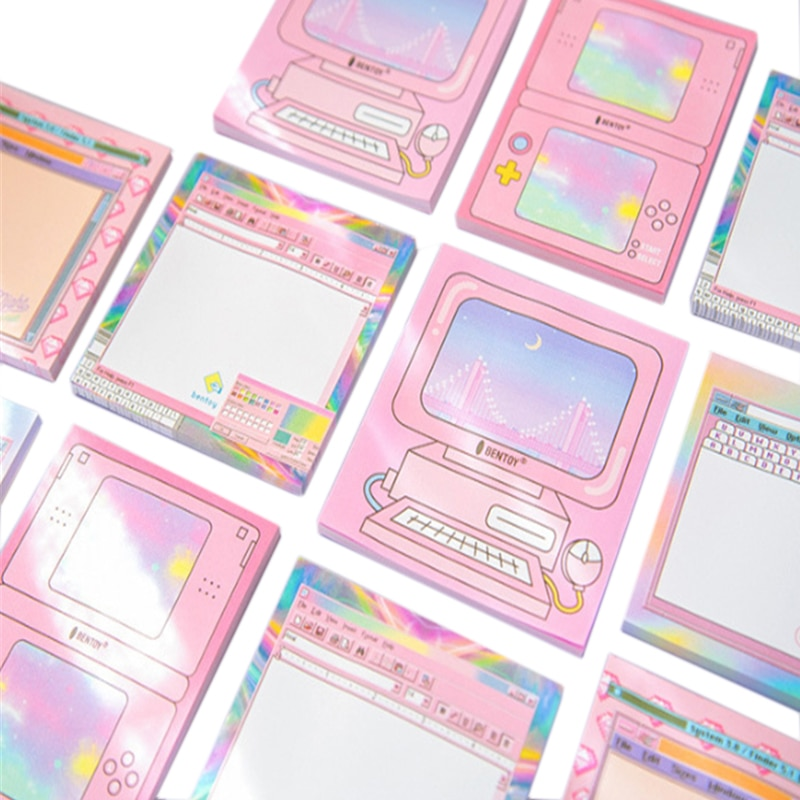1 упак./лот компьютерная игра машина дизайн пять вариантов Блокнот для Бумага канцелярские офисные школьные принадлежности, блокноты