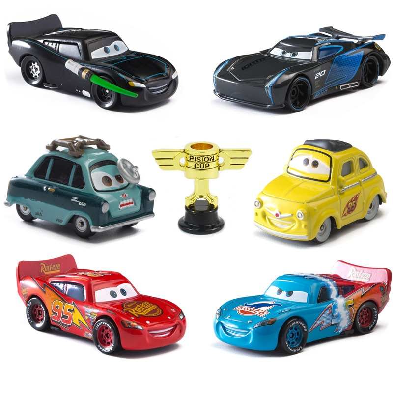Disney Pixar Cars 3 Piston Cup Black Darth Vader Mater Star Wars Lightning McQueen 1:55 Diecast Metal Car Model Toy For Kid Boy
