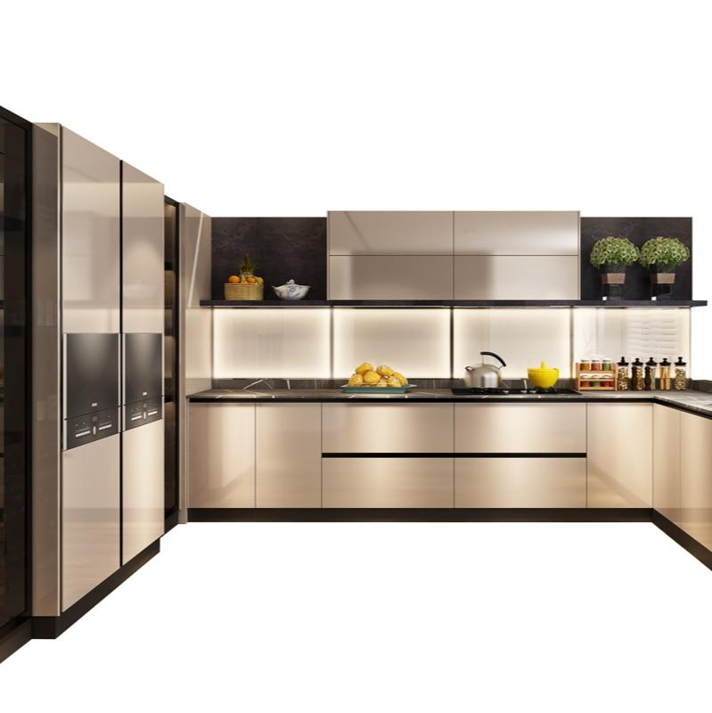 تخصيص المطبخ الديكور من خزانة متكاملة الحديثة نوع اقتصادي من الكوارتز حجر كونترتوب خزانة المطبخ