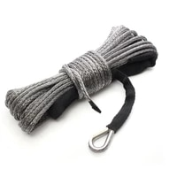 us de warehouse 5mm x 50 8000 lbs synthetic winch rope line recovery cable 4wd atv utv gray
