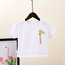 Enfants vêtements dété filles girafe dessin animé T-shirts bébé fille à manches courtes T-shirt fille vêtements hauts 1-6 ans vêtements pour enfants