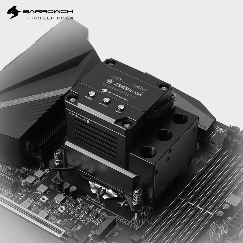 Barrow POM Material OLED bomba de agua + CPU bloque Combo uso para Intel LGA1150 1151 1155 1156 Socket enfriador de agua