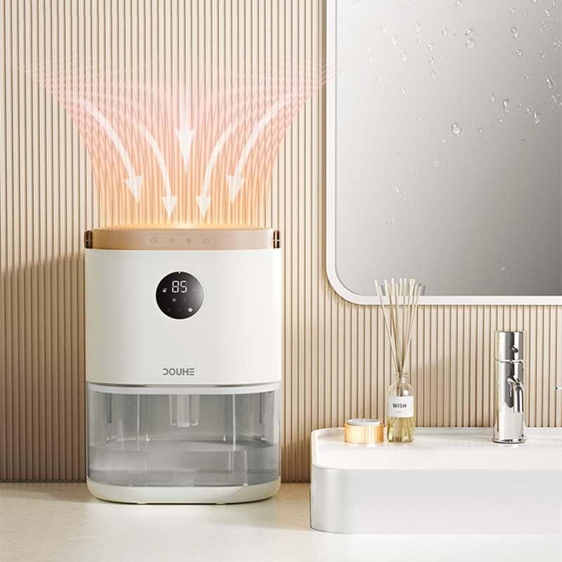ذكي مزيل الرطوبة الكهربائية 2L خزان المياه 3 طرق مع توقيت منخفض الضوضاء جهاز لإزالة الرطوبة من الهواء مجفف هواء للحمام المنزل