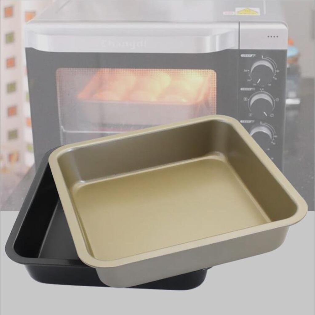 Bandeja antiadherente de acero al carbono para hornear, molde para Pan, galletas, molde para tarta acanalada
