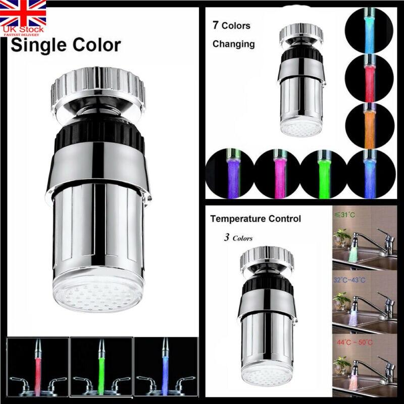 Grifo de luz LED de 7 colores cambiantes, grifo de cocina creativo LED, grifos de agua, grifo de agua corriente, grifo para baño, cocina