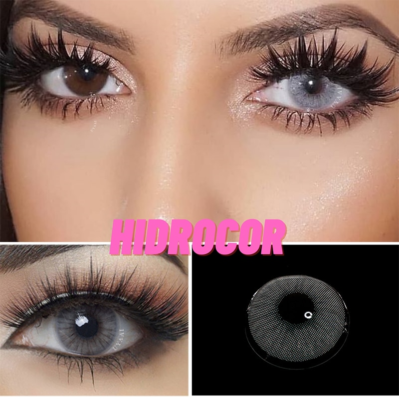 2pcs Yearly Contact Lenses Colored Contacts beautiful pupil Natural Contact Lenses For Eyes Color Ye