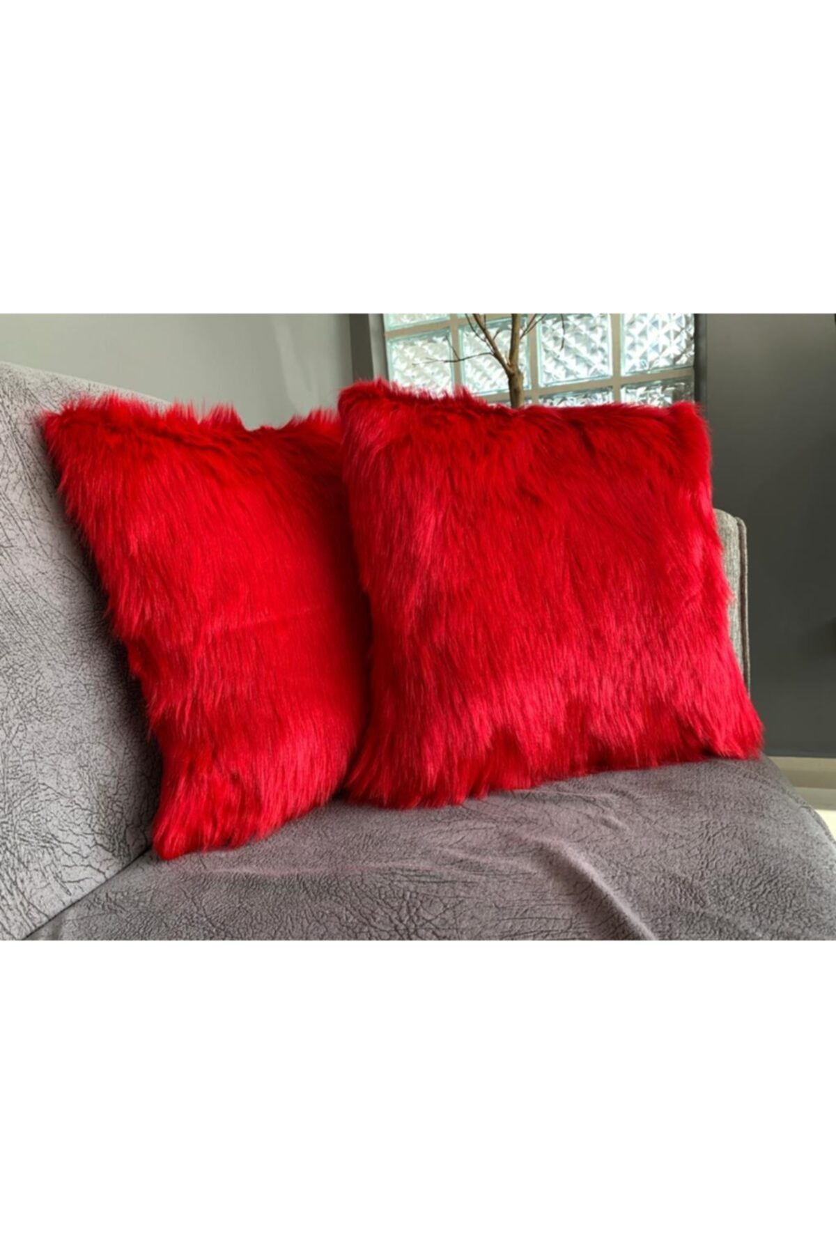 Plush Pillow decorate Case Red
