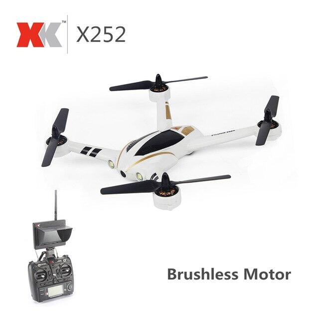 XK X252 FPV 5,8G con 720P 140 grados gran angular cámara HD Motor sin escobillas resaltar luces LED 7CH 3D 6G RC Quadcopter RTF