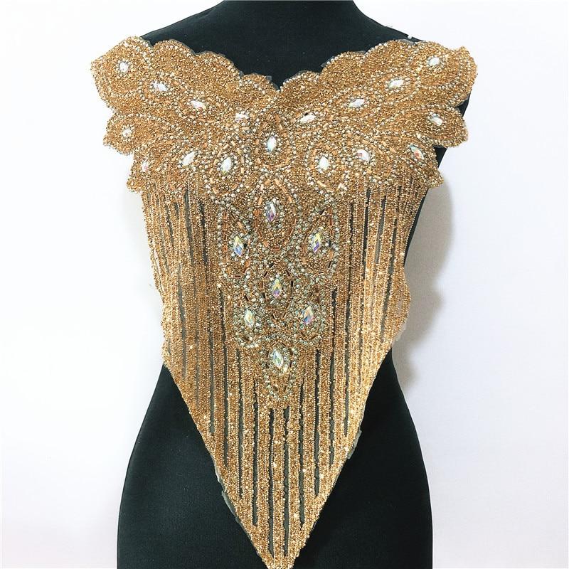 Gold rhinestone Motif Hot Fix Rhinestones Embellishment Iron on DIY  Patches Sewing Supplies craft Nigeria craft