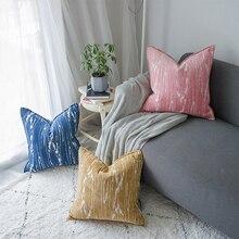 DUNXDECO-housse de Coussin en forme de Chenille   Boîte carrée Simple moderne et Simple, Coussin artistique, canapé de maison, décoration pour chaise