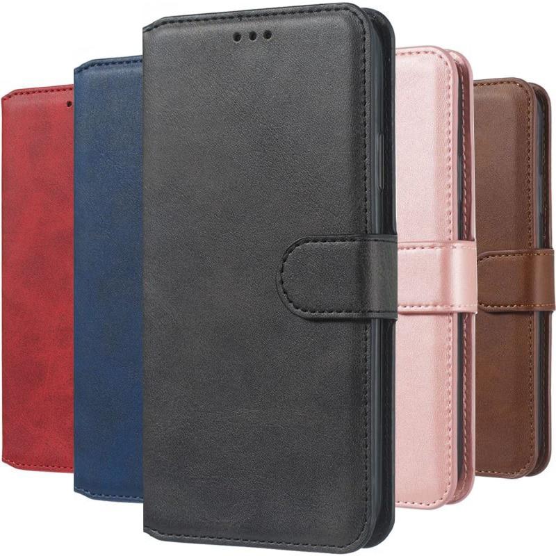 Lady Men Business Retro Case For Samsung Galaxy A10 A20 S A20E A30 A40 A50 A60 A70 A80 A6 A8 J4 Leat