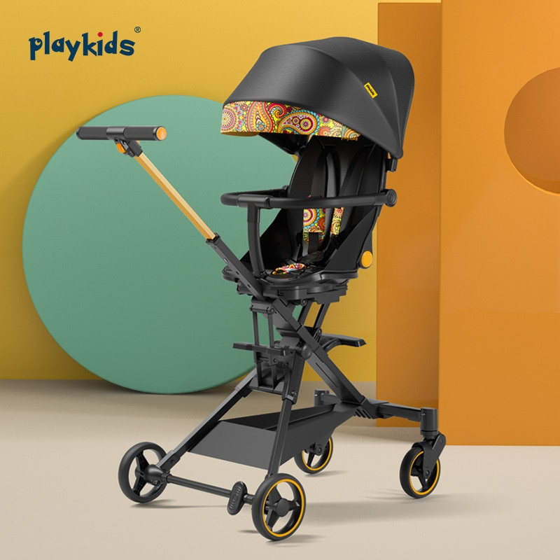 LUDDY Playkids Two-way Baby Stroller Can Sit, Recline, Lightweight Folding Trolley, High Landscape Slide Baby Artifact enlarge