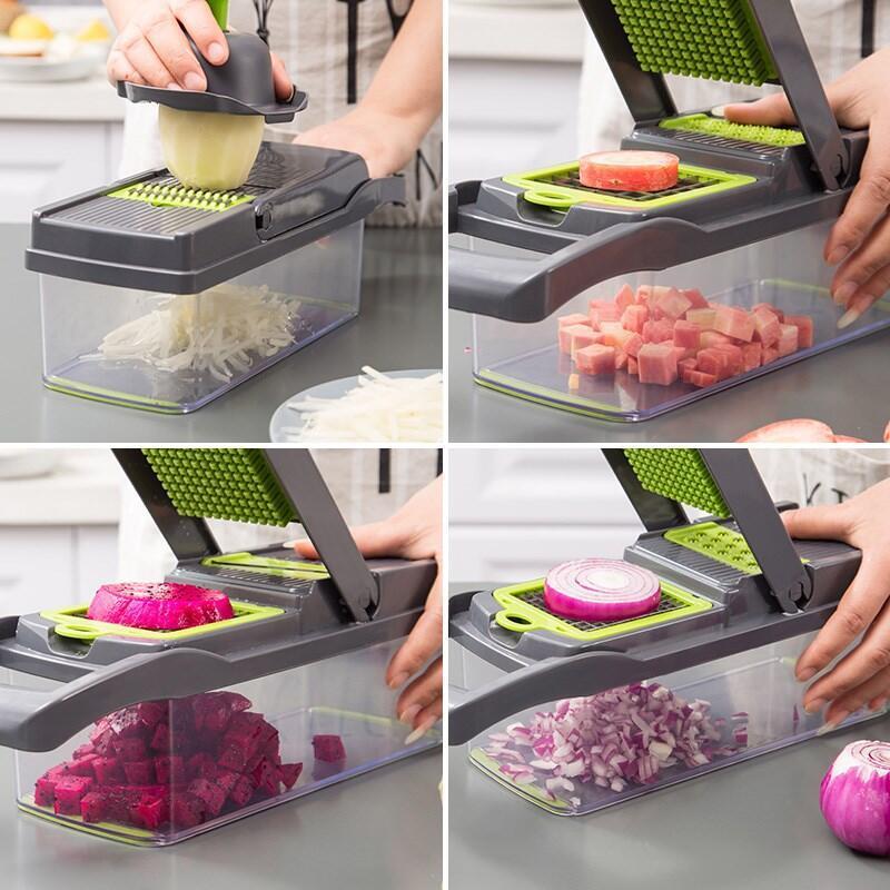 Vegetable Cutter Mandoline Slicer Fruit Peeler Potato Cheese Grater Chopper Kitchen Accessories
