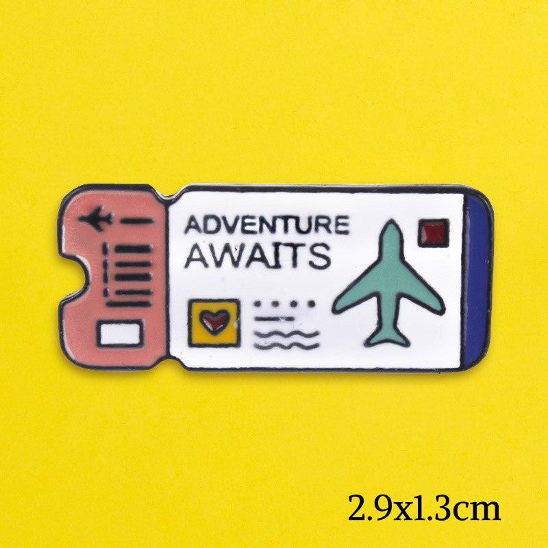 La creatividad de dibujos animados lindo aire entradas insignias para mochila animales insignias para prendas de vestir los amantes de pines para mochilas placa Accesorios