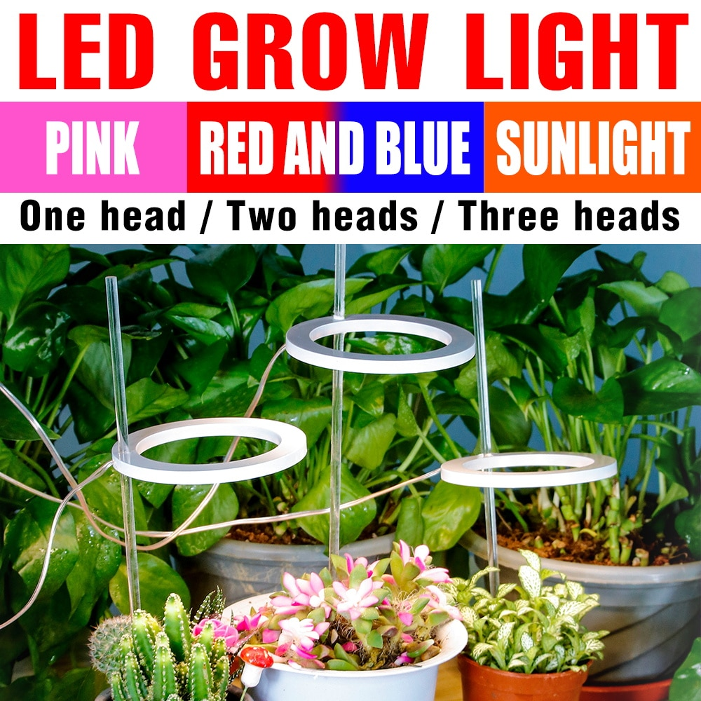 new 2 heads led grow light dual head 18w plant grow lamp led fitolampy with double on off switch for hydroponics grow system Grow Light USB LED Full Spectrum Plant Lamp Bulb Fitolampy LED 5V Phyto Light For Indoor Plant Flower Seeds Grow Box Hydroponics
