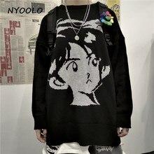NYOOLO Harajuku style vintage Streetwear tricoté pull automne hiver en vrac épaissir chaud hip hop pull pull femmes hommes haut