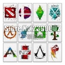 Peinture 5d bricolage pour jeu vidéo   Peinture en diamant, point de peinture, broderie diamant daquarelle, affiches mosaïque complète strass cadeaux