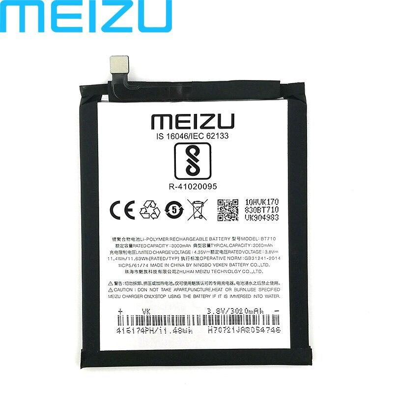 Batería Original Meizu 100% 3060mAh BT710 para teléfono Meizu M5c M710M M710H M793Q Blue A5 batería de alta calidad + número de seguimiento