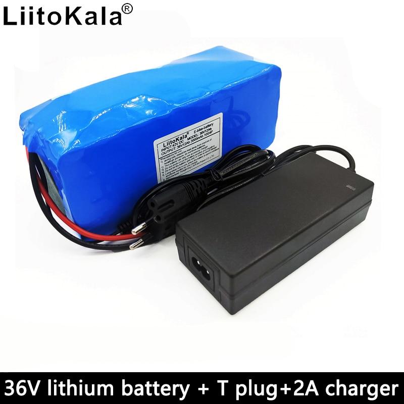 LiitoKala 36V 12Ah batería completa 42V 12000mAh batería de iones de litio 18650 batería recargable bms adecuado para bicicleta eléctrica