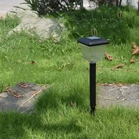 solar light abs plastic lawn lamp square circle outdoor waterproof garden garden park path corridor lawn decorative 12 pcs