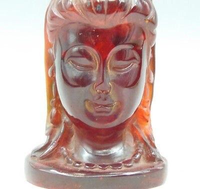 ¡Elaborado a mano de resina tallada realista Kwan-Yin cabeza y estatua favorable...