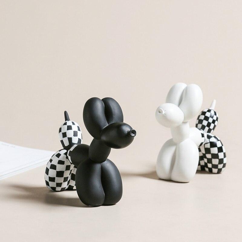Decoração do Quarto Luz de Luxo Balão Decoração Animal Casa Sala Estar Menina Coração Bonito Pequena Criatividade Cão