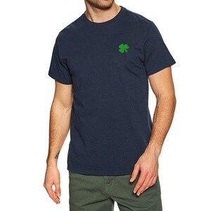 Mens Green Irish Shamrock Embroidered T-shirt Embroidery Irish Shamrock Shirts