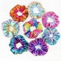 colorful elastic hair rope soft scrunchies tie dye hair ring band elastic hair bands rope ties women girl hair accessories