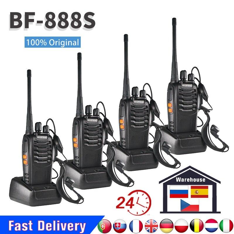 100% الأصلي Baofeng BF888S اسلكية تخاطب bf 888S 5 واط UHF400-470MHZ تسليم سريع من إسبانيا روسيا التشيك