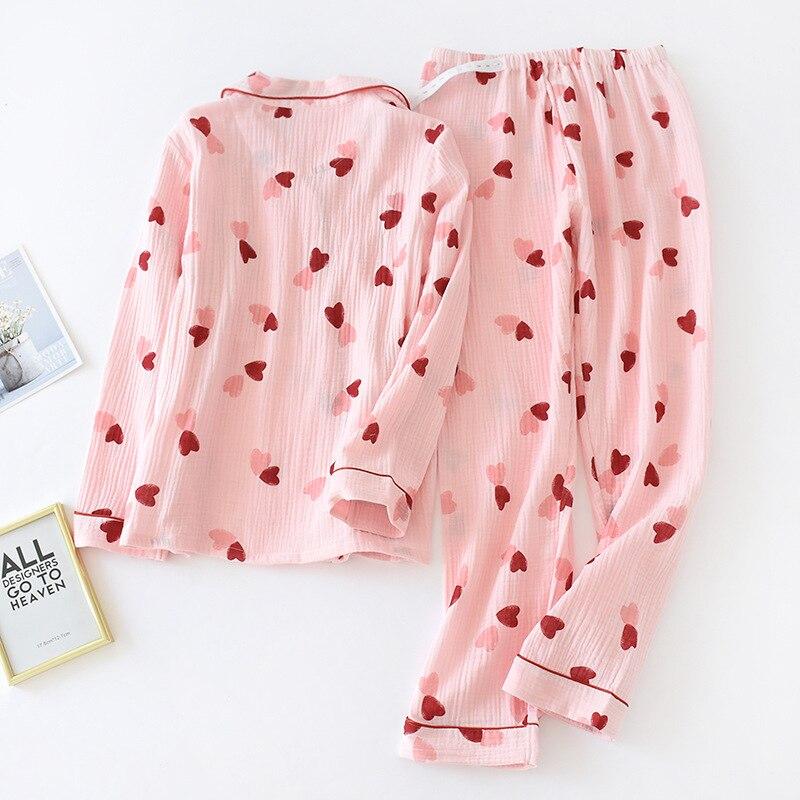 Fdfklak Printed Cotton Maternity Nursing Nightwear Spring Fashion 2 PCS Sleepwear for Pregnant Women Autumn Pregnancy Pajamas enlarge