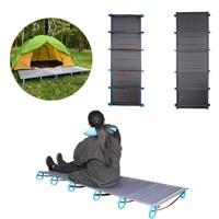 hot sake portable folding single camp grey bed travel cot tent bed aluminium alloy metal frame outdoor camping beds