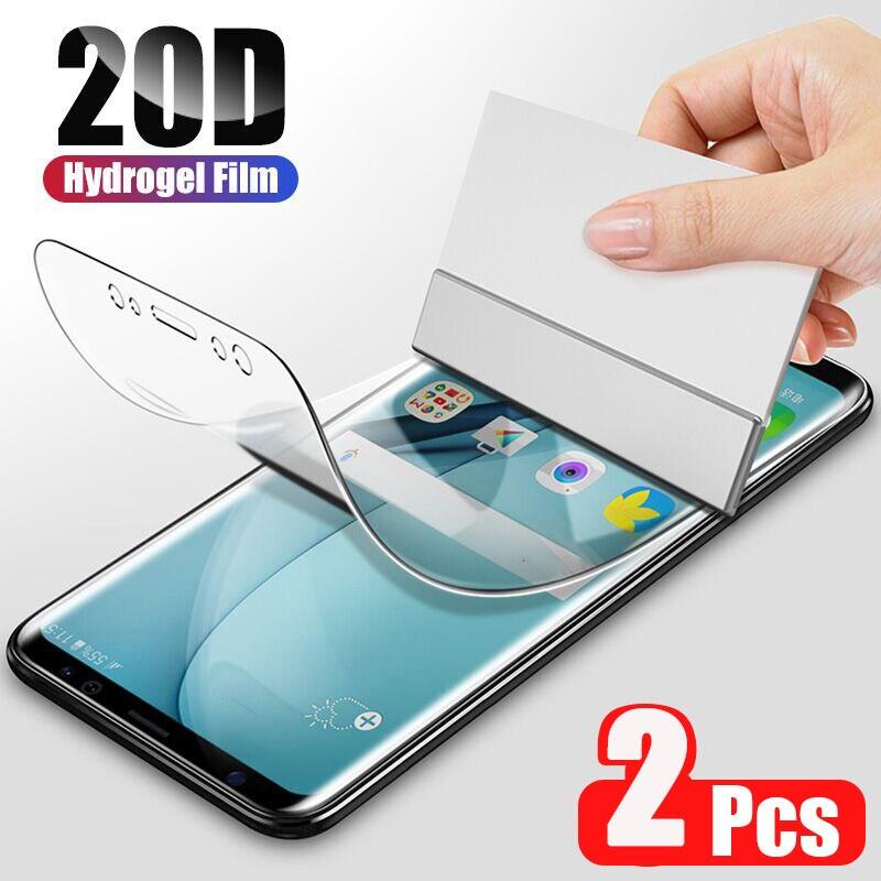 2 pçs 20d capa filme de hidrogel macio para samsung galaxy s21 s20 s10 s8 s9 mais nota 20 10 9 mais s21 ultra 5g filme protetor de tela