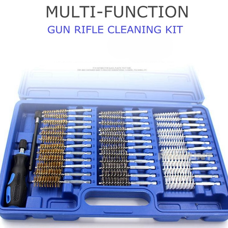 38 peças caça arma kit de limpeza 9mm .22/40/45/380 calibre para arma arma rifle ferramenta de limpeza para universal