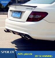 For Benz W204 Spoiler Carbon Fiber Car Rear Wing Spoiler For Benz W204 C180 C200 C260 C280 C300 C74 ROOF Spoiler 2008-2014