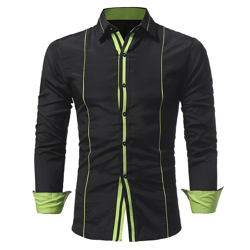 Men Shirt 2018 Spring New Brand Business Men's Slim Fit Dress shirt Male Long sleeves Casual Shirt camisa masculina Size M-3XL