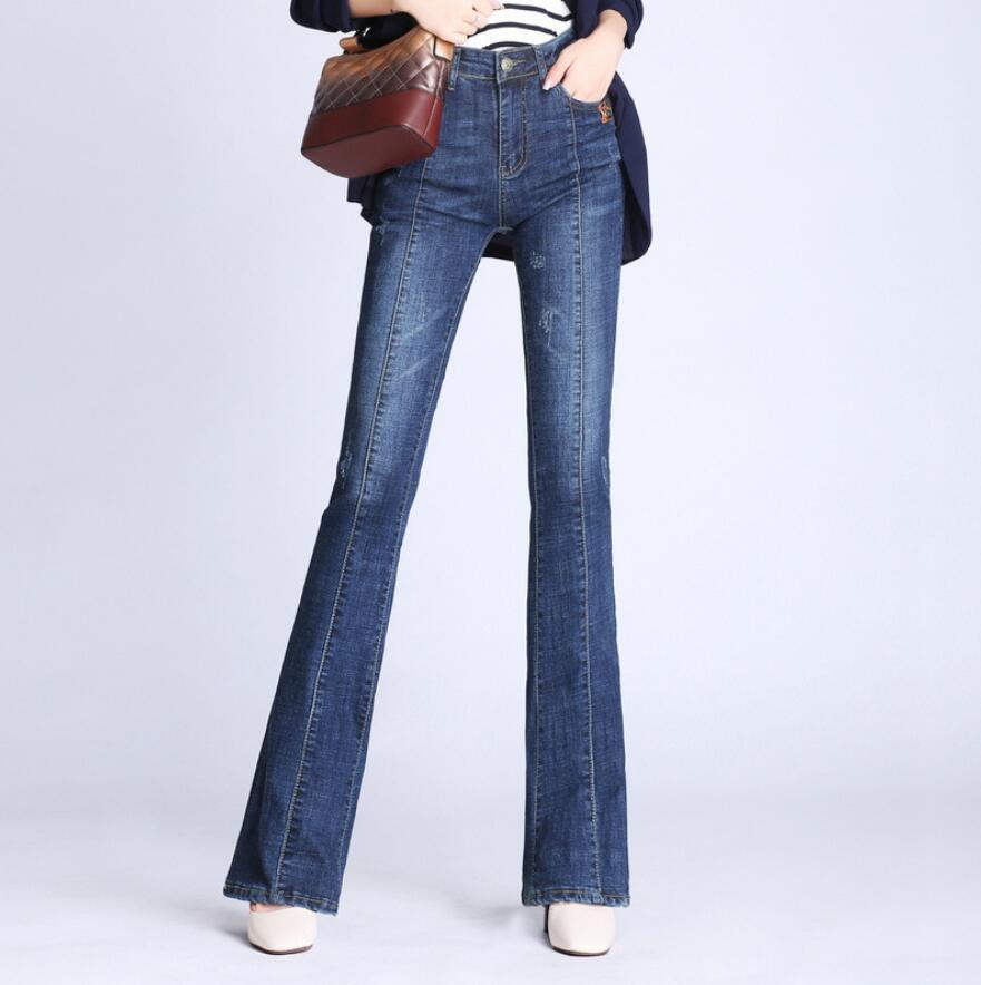 بنطلون جينز نسائي بخصر عالٍ ، بنطلون جينز واسع ، مقاس كبير ، مجموعة الربيع والخريف ، s23