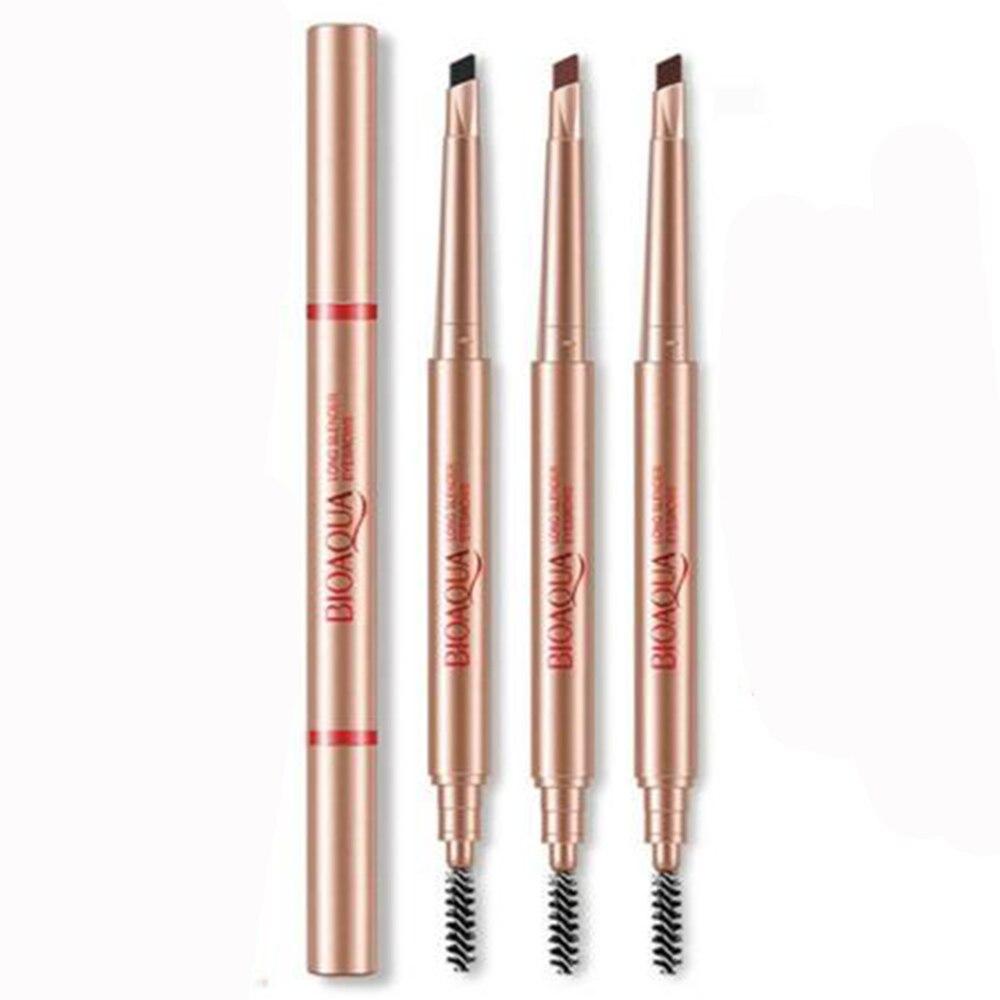 Women Waterproof Eye Brow Eyeliner Eyebrow Pen Pencil With Brush Makeup Tool