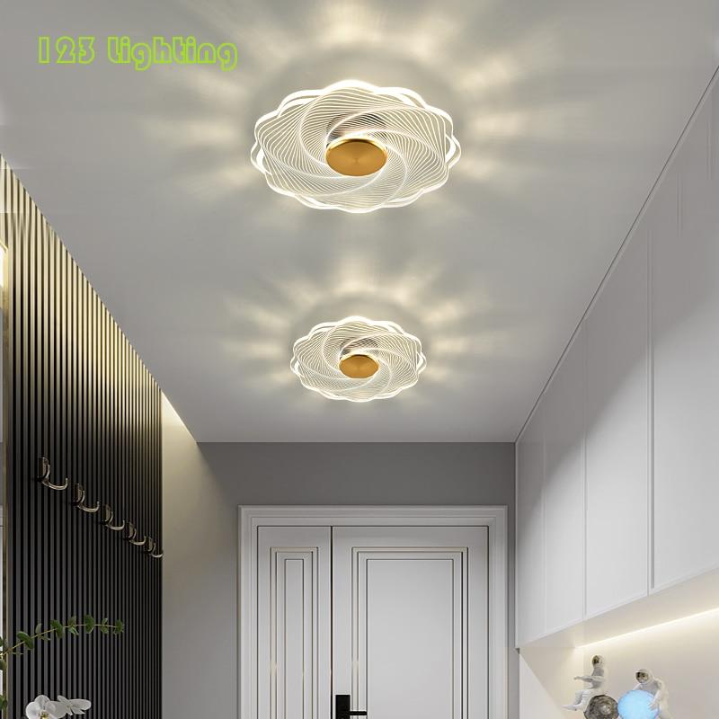 الحديثة زهرة LED أضواء السقف الاكريليك Diningroon نوم الدرج الممر مصباح السقف جو الديكور مصباح دائري 220 فولت