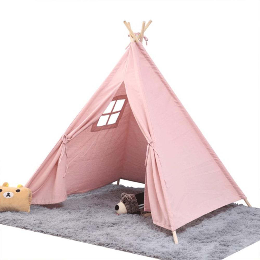 1,35 м большая палатка для прорезывания зубов, Детская Хлопковая парусиновая палатка, детский домик для девочек, игровой домик для девочек, ин...