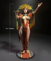 124 75mm 118 100mm resin figure model kits the queen egypt unpainted no color rw 250
