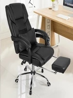 chairs high back gaming chair recliner pu leather seat adjustable lying armchair with footrest computer chair office furniture