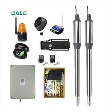 Ouvre-porte automatique   Porte de contrôle WiFi solaire 300KG, Double bras de porte pivotant, Machine avec capteur de serrure électronique GSM, bras ouvert